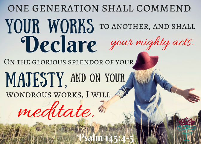 Psalm 145-4 scripture card (2)