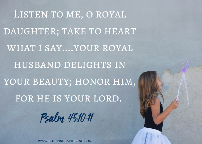 Psalm 45-10-11 scripture card (1)