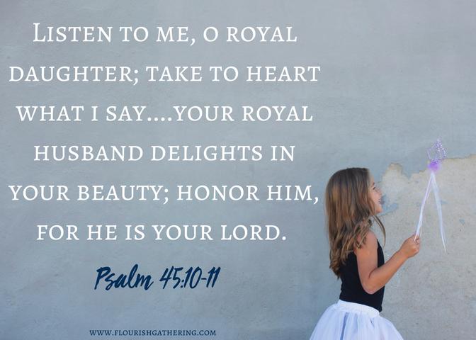 Psalm 45-10-11 scripture card (1)