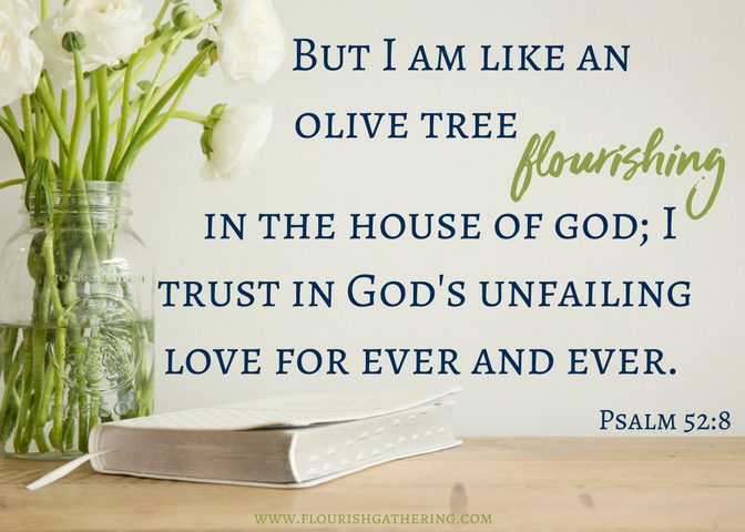 Psalm 52-8 Scripture Card (2)