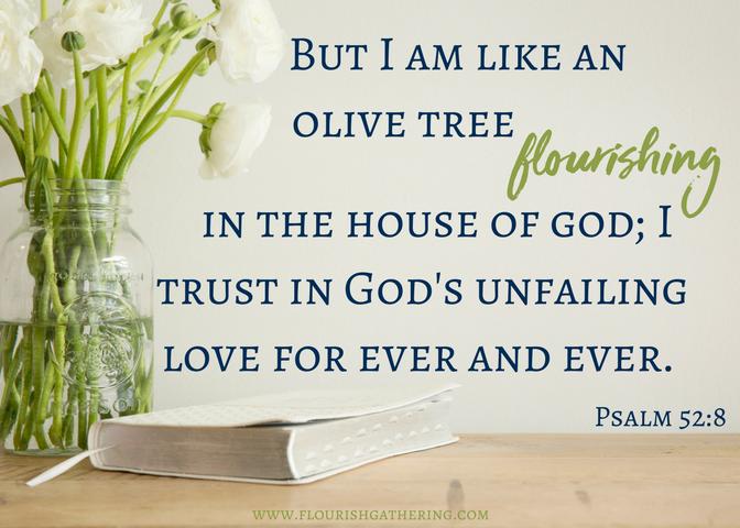Psalm 52-8 Scripture Card (2)