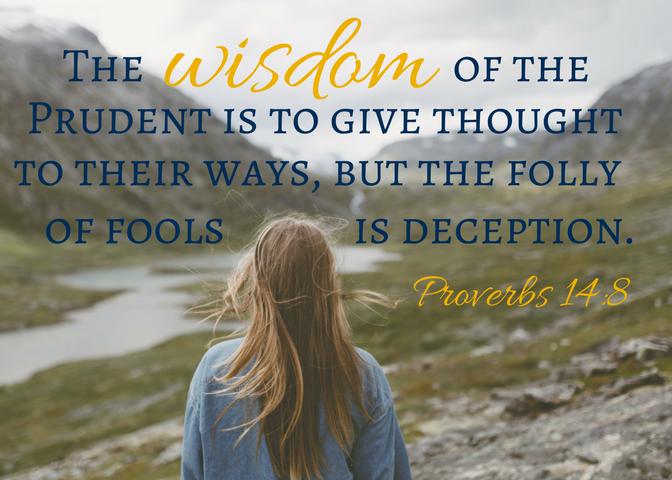 Proverbs 14-8 Scripture Card (1)