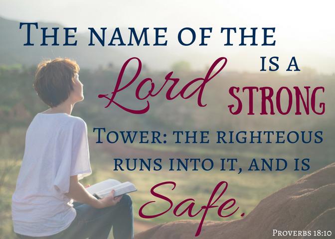 Proverbs 18-10 Scripture card (2)